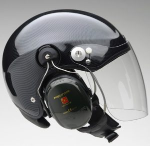 Great Gyrocopter Helmet with head set and visor